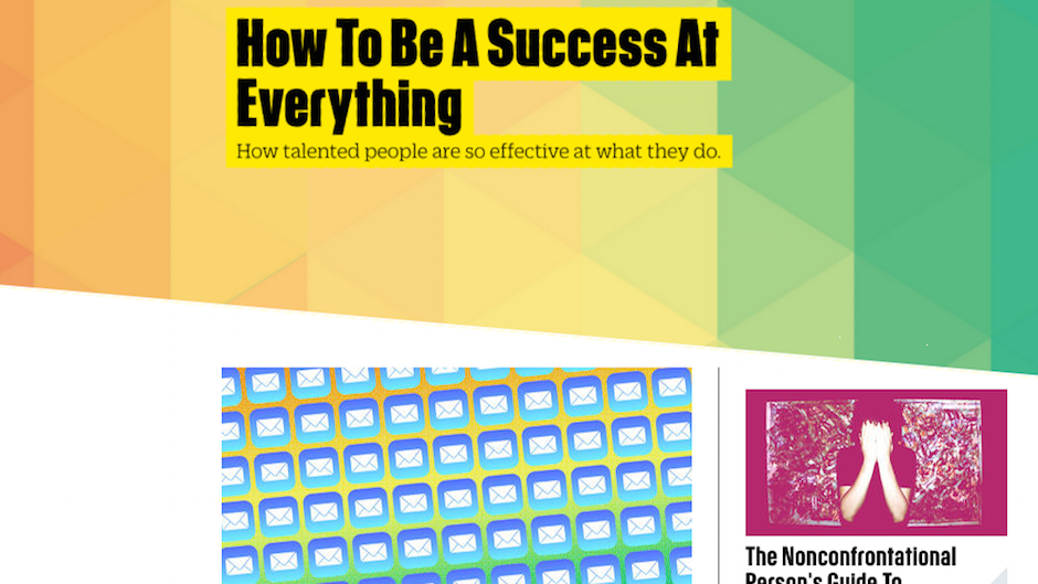 how to be a success at everything fast company