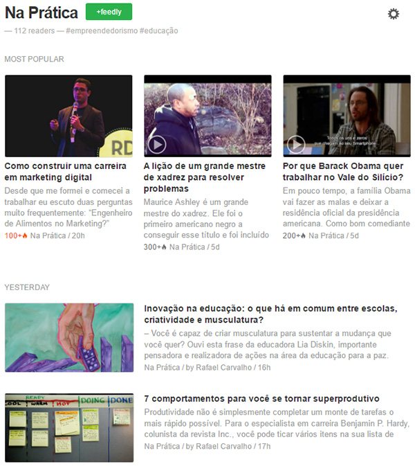 Feed RSS Na Pratica