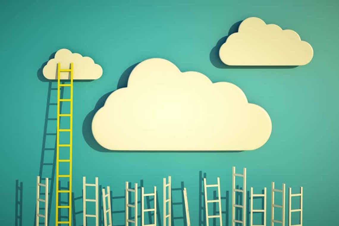 Escadas para nuvens