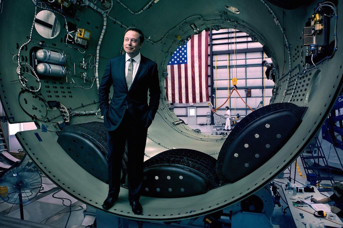 Elon Musk em foto da revista Vanity Fair