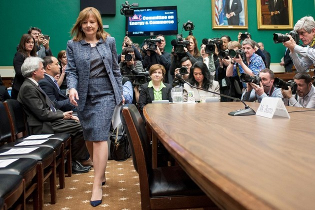 Mary Barra, CEO da GM, no Senado americano